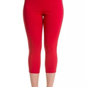 HellBunny Red Retro Capris - Pedal Pushers